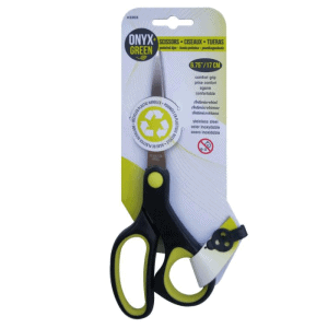 Eco friendly school supplies - Onyx and Green recycled scissors